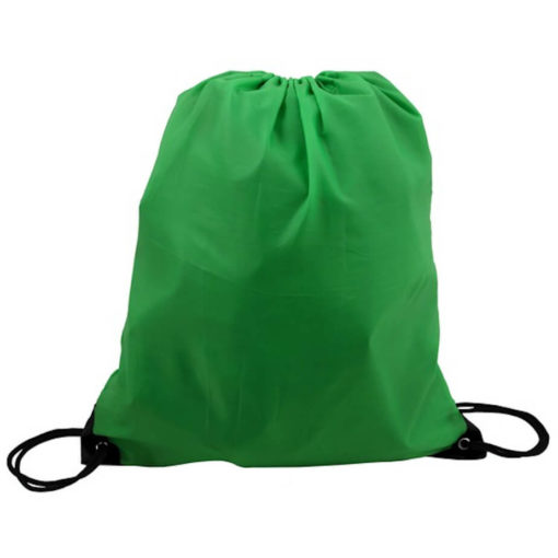 The Green 210D Poly String Bag Is Made From 210D Polyester. The Bag Has Reinforced Eyelets.