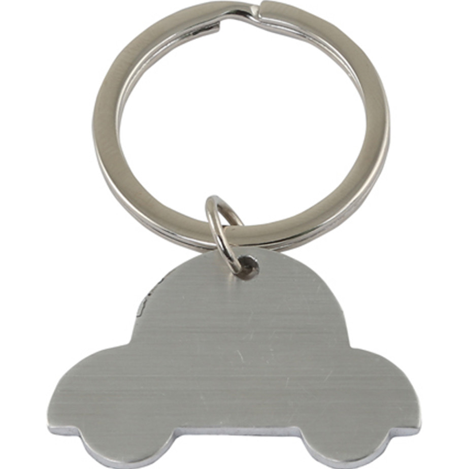 The Silver Car Keyring Is Made From Metal. The Keyring Is Packaged In A Gift Box.