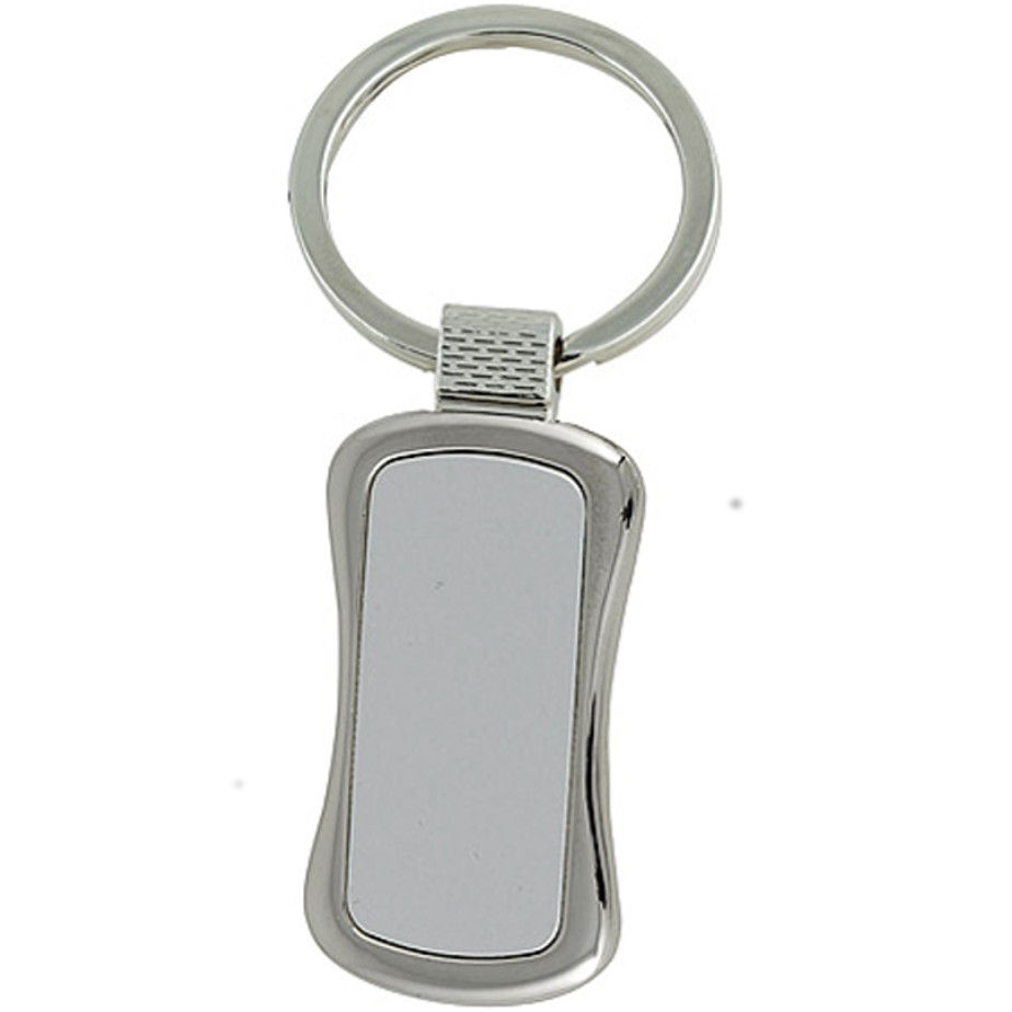 The Curved Keyring Is Made From Metal.