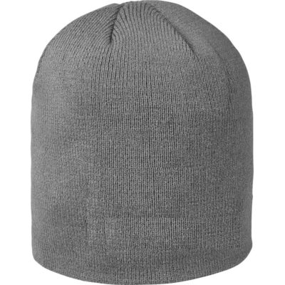 The Grey Pinnacle Acrylic Beanie Is Made From Acrylic Rib Knit And Is A Winter Warmer.