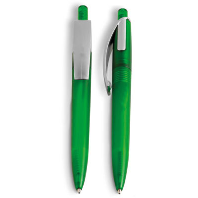 The Green Iceland Ball Pen With Clip Accent