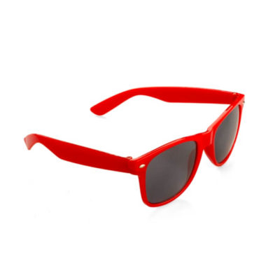 The red Just Cool Funky Sunglasses can change your perspective on life. Made from plastic and is available in different colours.