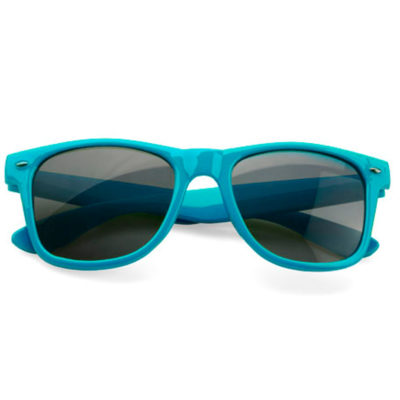 The turquoise Just Cool Funky Sunglasses can change your perspective on life. Made from plastic and is available in different colours.