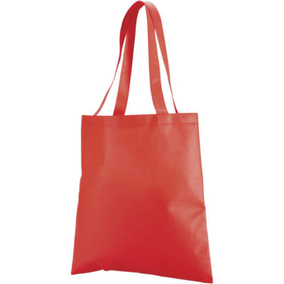 The Red Expo Shopper Includes A 80gsm Non Woven Fabric, Self Fabric Handle With Cross And Box Stitch.