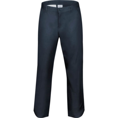 The Mens Chino Pants Is A Navy Dress Wear Pants With A Flat Front, Side Pockets And Button Down Back Pocket.