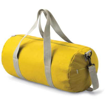 The Stylish Yellow Barrel Bag Includes An Adjustable Grab Handle And Shoulder Straps. The Bag Is Suitable For Any Sport.
