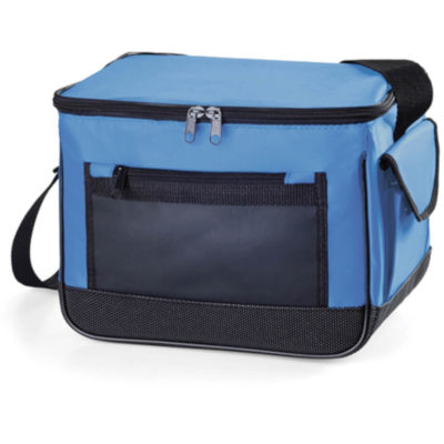 The Blue 12 Pack Cooler Bag Features A Silver Lining On The Inside Which Is Perfect To Keep Your Refreshments Cold. With Black Zip Detail, side Velcro Closure Pouch And Front Slip Pocket