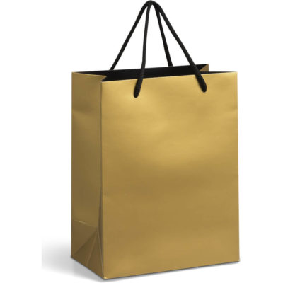 The Gold Dazzle Gift Bag has a matte finish and its made of 230gsm art card paper.