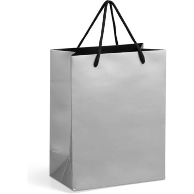 The Silver Dazzle Gift Bag has a matte finish and its made of 230gsm art card paper.