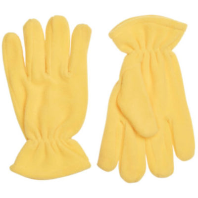 The Blizzard Gloves are wind resistant, polar fleece yellow gloves. With individually shaped fingers and an elastic wrist closure