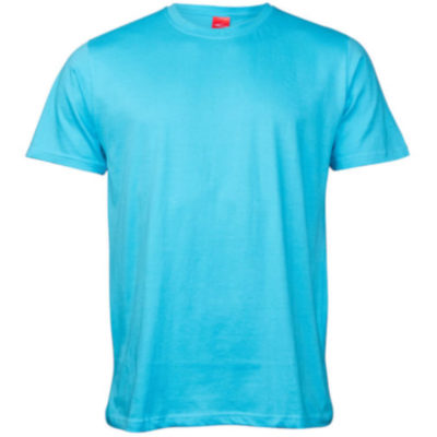 The Kids Classic T-Shirt is a 100% combed cotton short sleeve powder blue tshirt. With taped shoulders and neckline, double stitched waistline and sleeves and side seams for durability.