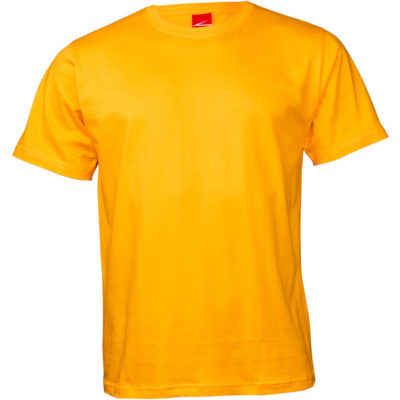 The Classic T Shirt is a 165gsm combed cotton short sleeve yellow tshirt. With taped shoulder and neckline, double stitched hem on the waist and sleeves and side seams for durability.