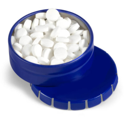 The Blue Clic Clac Tin With Sugar Free Mints Contains Peppermint-Flavoured Sugar Free Mints.