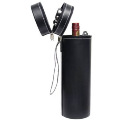 The Executive Wine Set Includes A Waiters Friend, A Drip Collar And Wine Pourer. Packaged In A Hard Cover Circular Tube Zip Pouch