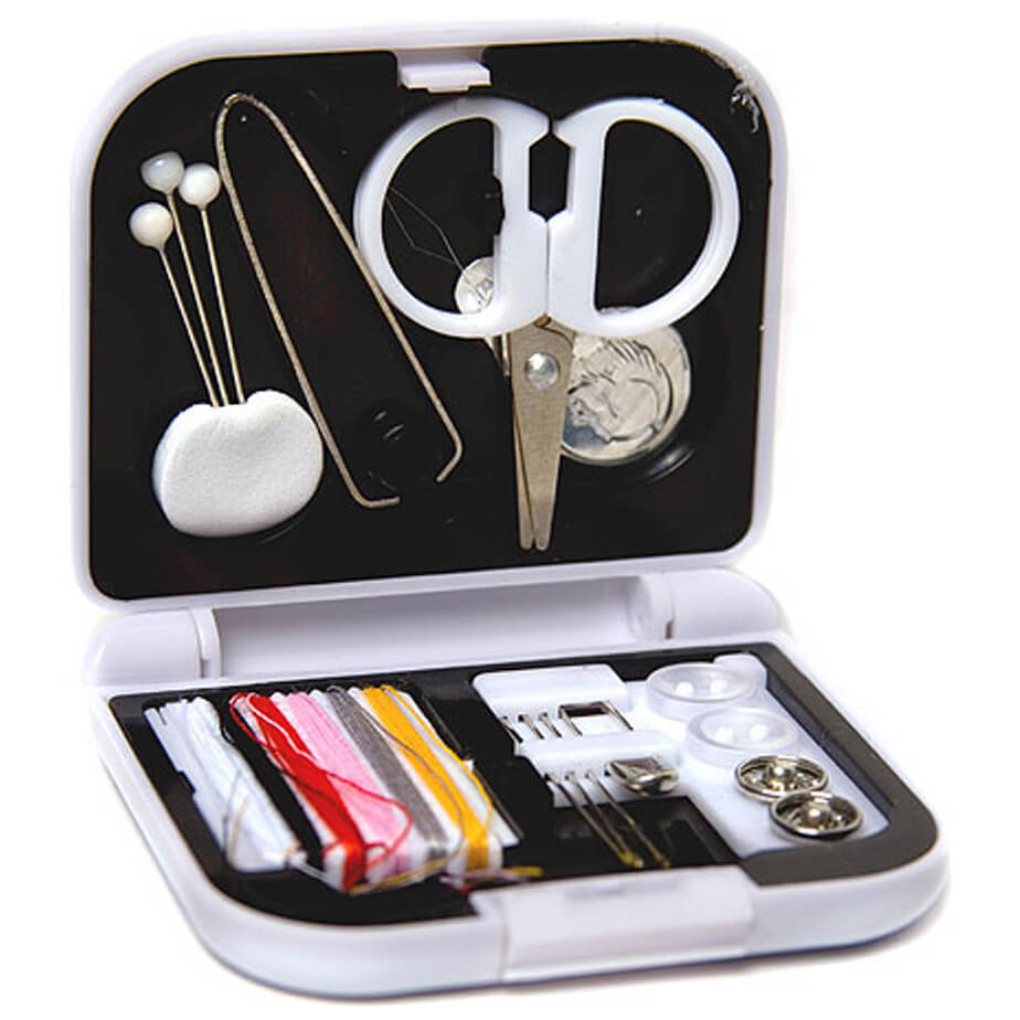 Mini Sewing Kit With Scissors, Pins, Thread And More