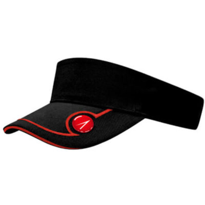 The Backswing Visor has a magnetic golf marker and is made from a 100% cotton chino fabric