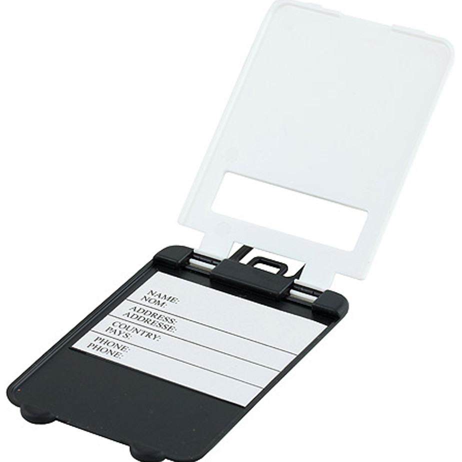 The Luggage Tag Includes Name, Address, Country And Phone.