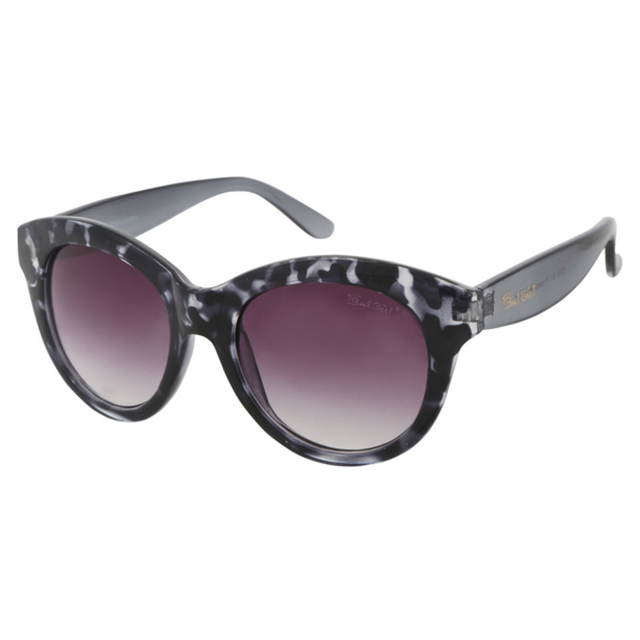 The Grey Bad Girl Sunglasses Is Made From Plastic. The Glasses Has UV 400 Protection And Includes A Bad girl Pouch.