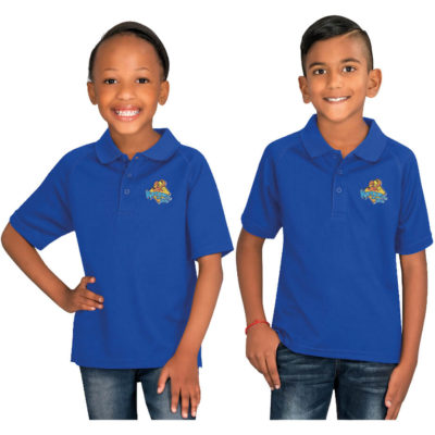 The Kids Championship Golf Shirt is available in different colour and sizes for both boys and girls. Made from 145g/m2 100% polyester, techno-dri moisture management fabric