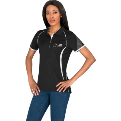 The Ladies Razor Golf Shirt is made from 155 g/m², 100% polyester sports interlock fabric