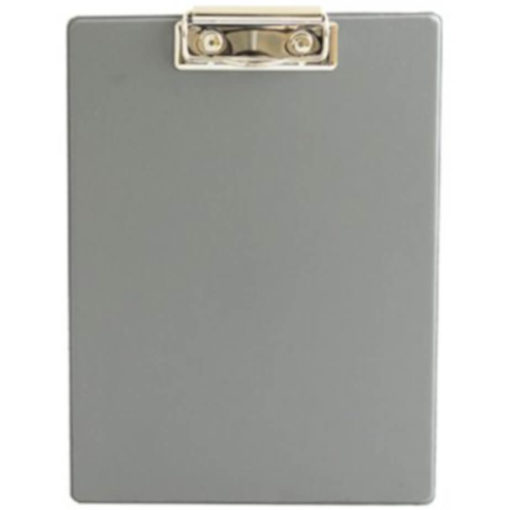 The Chase A5 Clipboard Folder is a grey PVC folder with a flip open cover and a metal clipboard holder