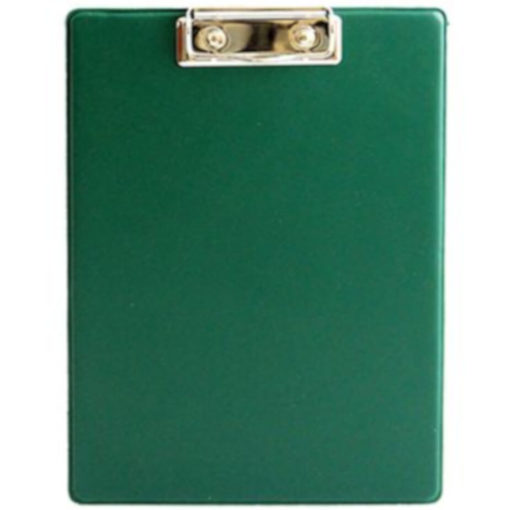 The Chase A5 Clipboard Folder is a dark green PVC folder with a flip open cover and a metal clipboard holder