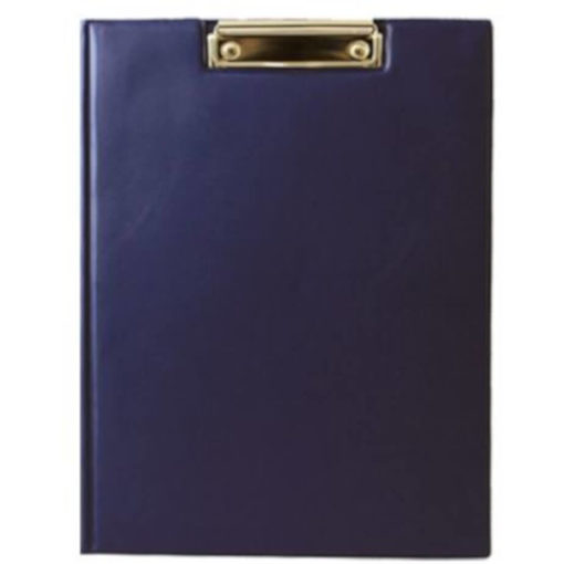 The Chase A5 Clipboard Folder is a navy PVC folder with a flip open cover and a metal clipboard holder