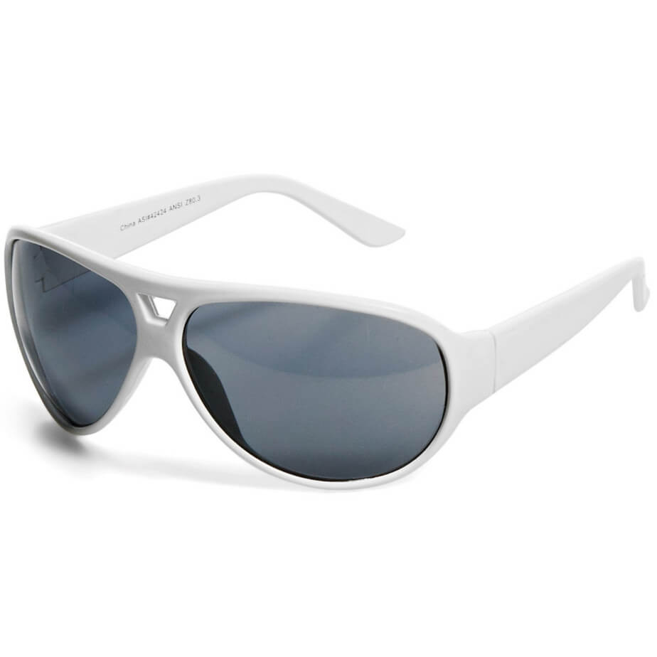 White UV400 Cruise Sunglasses Brandable On Both Sides