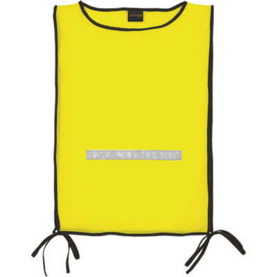 The Basic Safety Bib comes inside a safety yellow colour with reflective tape detailing
