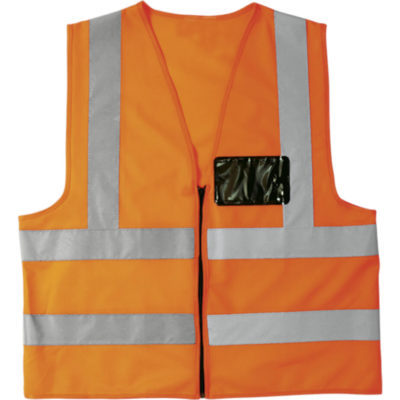 The Safety Orange Contract Waistcoat Is Made From 120g 100% Polyester Fabric, Reflective Tape.