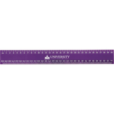 The Basix 30cm Ruler is made of plastic and measures 4cm in width, available in a lovely splash of different colours.