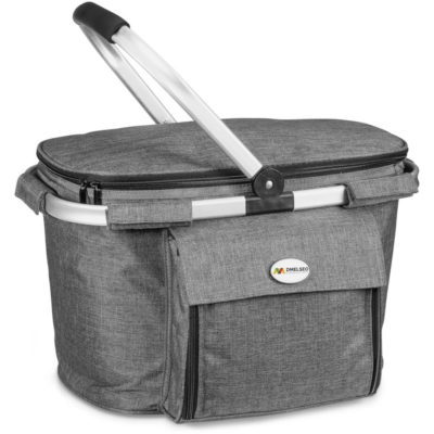 The Avenue Picnic Cooler is a polycanvas and aluminium foil lined picnic cooler. With a sturdy carry handle, large main compartment and velcro front pouch