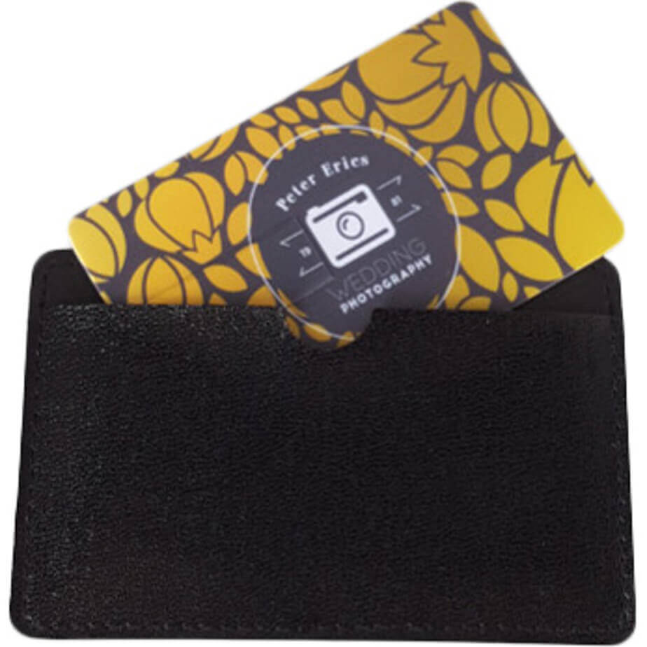 The Card Style USB Includes A Synthetic Leather Sleeve.