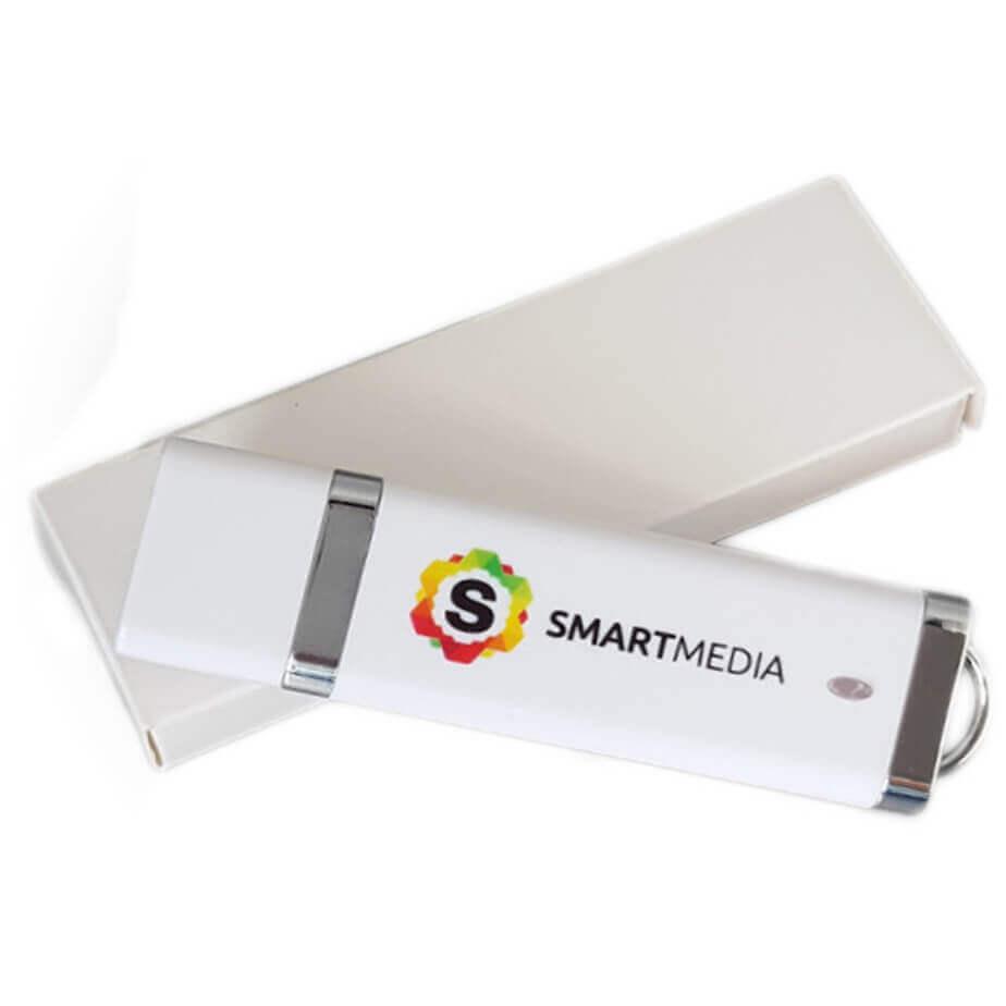 Plastic White Slimline USB