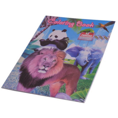 The Wildlife Stickers & Colouring Book contains x16 A5 Colouring In pages and 2 x A5 sticker pages in animal and wildlife theme design