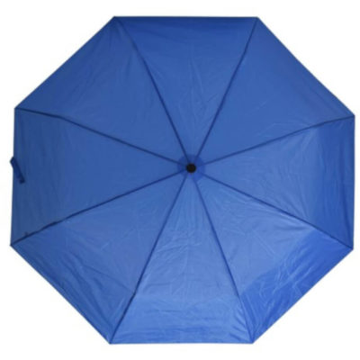 The Royal Blue 3 Fold Umbrella Is Made From 170T Polyester.The Umbrella Folds Up Into A Cellphone Packet.