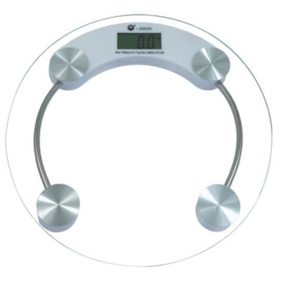 The Bathroom Scale Is Made From Glass. The Features Include A LCD Display And An Automatic Start When Stepping On.