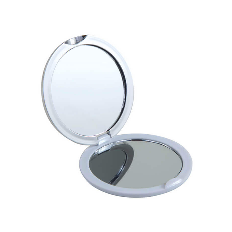 Plastic Compact Mirror With Mirrors In Both Sides