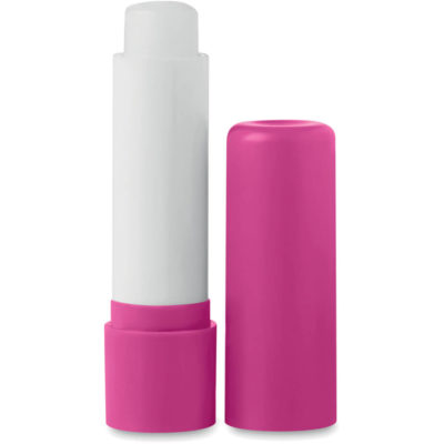 The pink Kissable Lip Balm has a SPF15 level and its placed in a plastic tube.