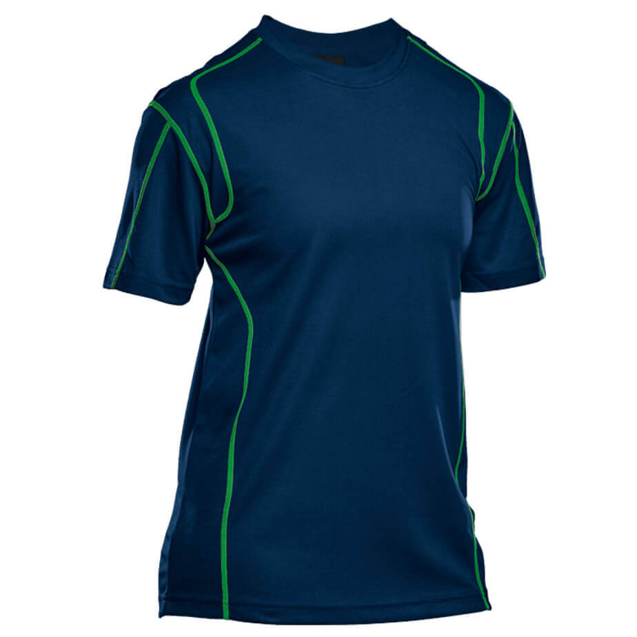 The Blue/Lime BRT Speedster Short Sleeve T-Shirt Is Made From 150g 100% Polyester, Quick Dry Fabric. The Features Include Short Fitted Sleeves And Visible Contrast Stitching.