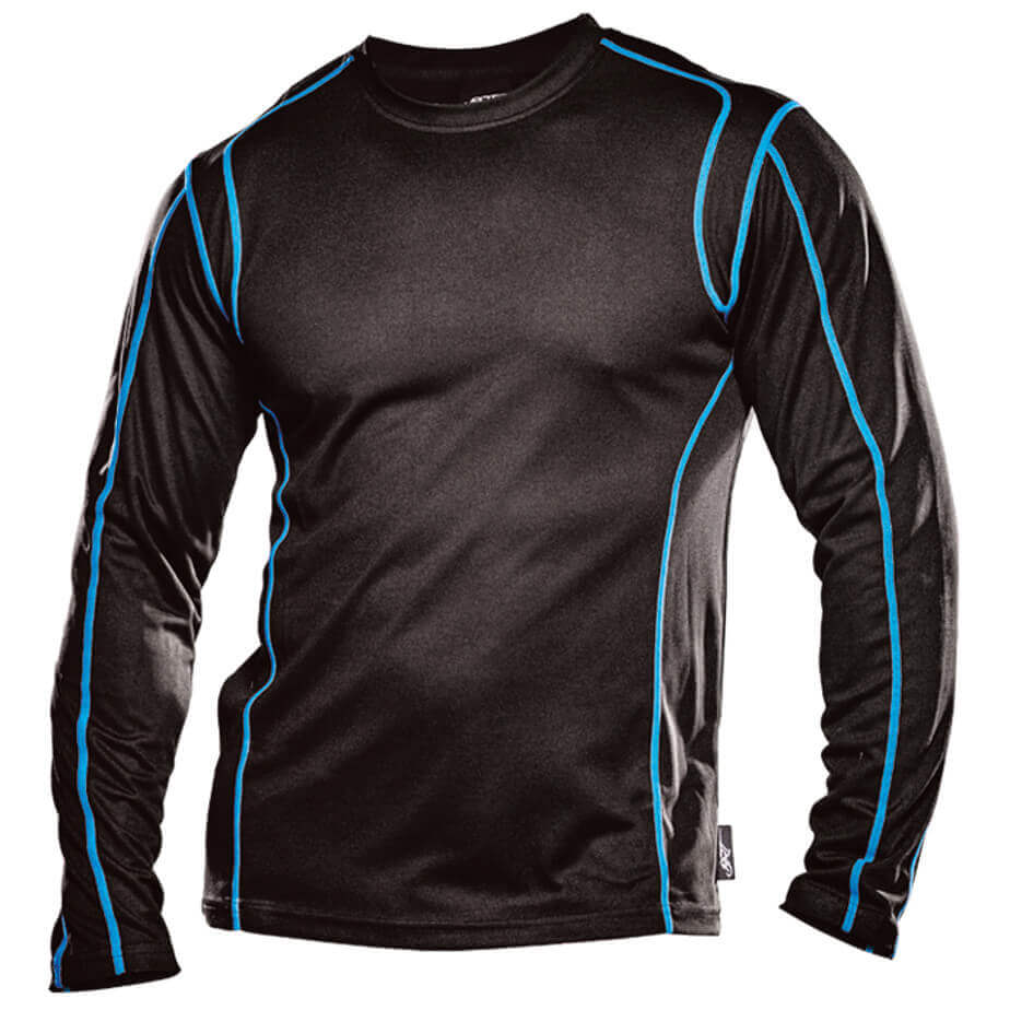 The Black/Blue BRT Speedster Long Sleeve T-Shirt Is Made From 100% Polyester. The T-Shirt Has A High Quality Finish, Slim Fit And Visible Contrast Safety Stitching.