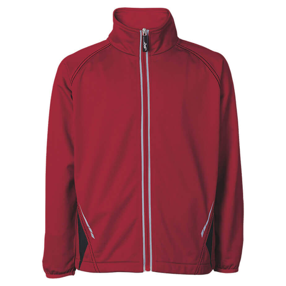 The Red/White Hydro Tracksuit Top Is Made From 200g 100% Polyester. The Features Include Tonal Elasticated Cuffs, Reflective Print, Back Hem, Zip Tape With Inverted Zip, Zip Puller, Inseam Pockets, Raglan Sleeves And A Shaped Hem.