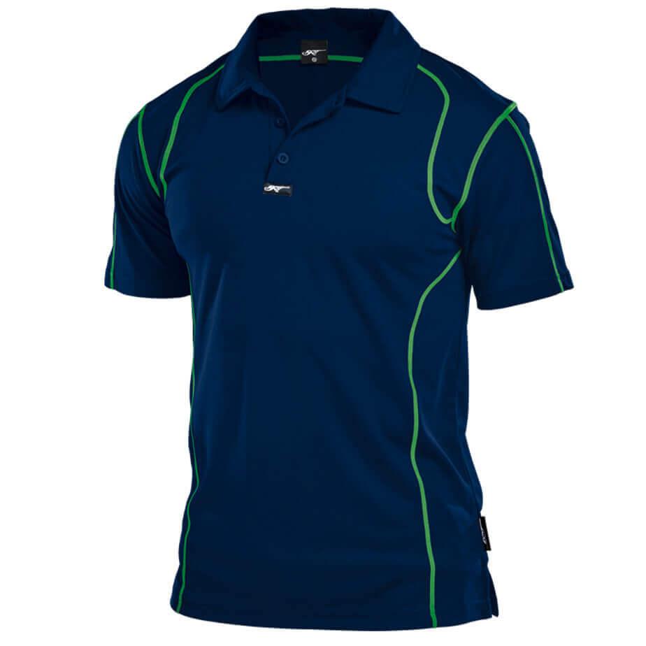 100% Polyester BRT Speedster Golf Shirt Navy-Lime