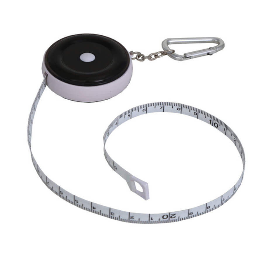 Tape Measure & Carabiner Available In Black And White