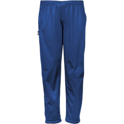 The royal blue BRT Champion Tracksuit Pants includes an elasticated waistband drawcord, reflecting piping, a zip opening hem and side inseam pockets.