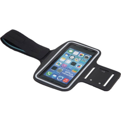 The Armband Cellphone Holder is made from neoprene. The features include a separate locker key holder with a luminous strip. The holder is packaged in a transparent cellphone packet.