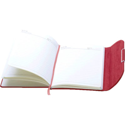 The A5 Clutch Handbag Designed Notebook Open To Display The NotePad
