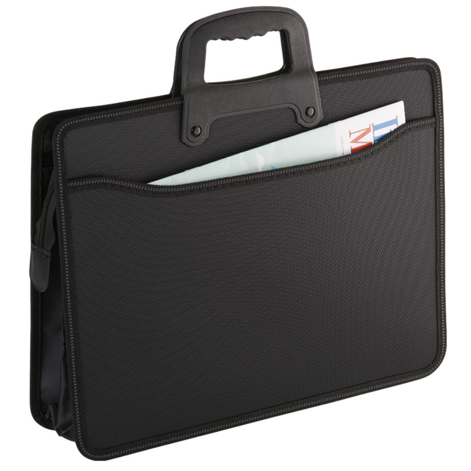 The Ultimate Business Folder Is Designed With White Contrast Stitching. Various Features Included. Available In Black Only.
