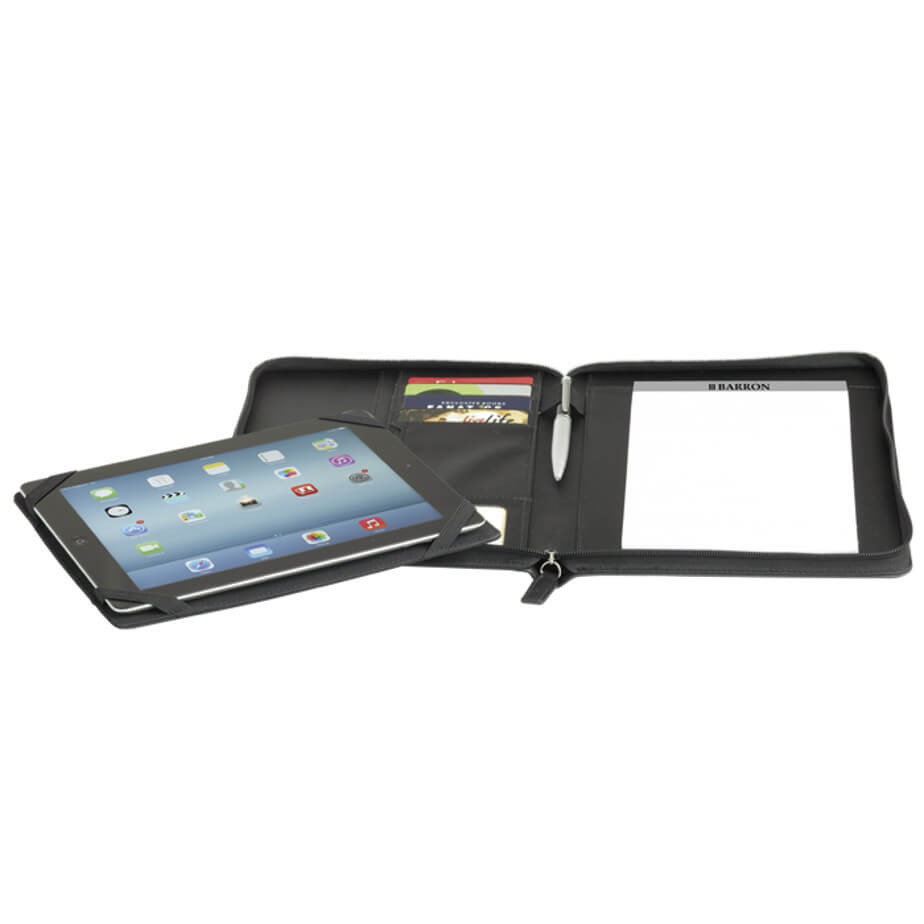 The Soft Touch A5 Zippered Tablet Holder Is Designed With A Colour Changing PU With Matching Colour Stitching. Available in 2 Colours.