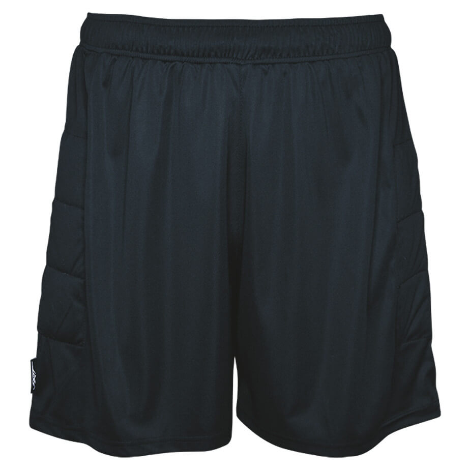 The Black BRT Goalie Shorts Is Made From 100% Polyester Fabric. The Shorts Has An Elasticated Waistband With Drawcord And Padding On Thigh.